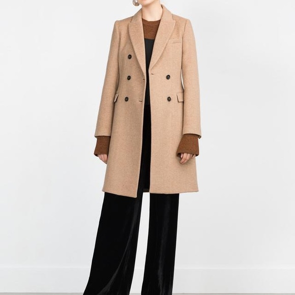best prices latest sale performance sportswear NWT Zara Double Breasted Camel Masculine Coat