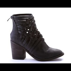 Free People Carrera black ankle booties