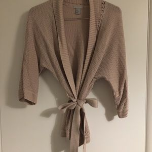 Tan Shawl with front tie