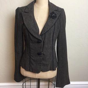 Nanette Lepore stripe wool blend jacket
