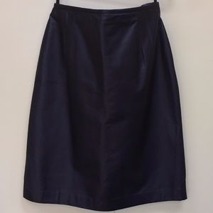 LAUREN by Ralph Lauren Genuine Leather Black Skirt