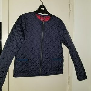 BROOKS BROTHERS REVERSIBLE PLAID PUFFER JACKET  M