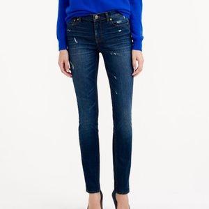 J. Crew Reid Jeans Tall Denim Distressed Dark Wash