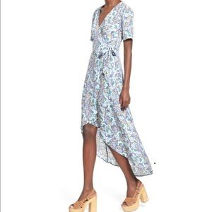 ASTR the Label Floral Print Wrap Front Maxi Dress