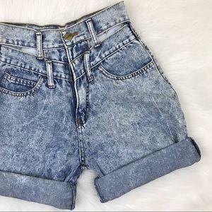 Vintage Cut Out High Waist Shorts