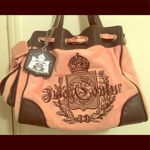 Juicy Couture Velour Daydreamer Pink Shoulder Bag