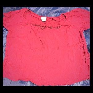 Jaclyn smith short sleeve shirt. Sz 2x