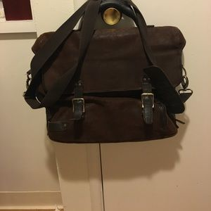Busca vintage brown leather satchel