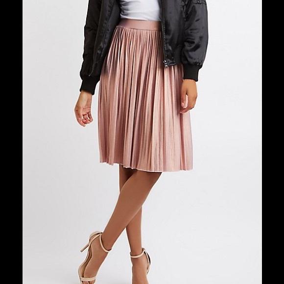 149c18c7703 Charlotte Russe Dresses   Skirts - NWOT Charlotte Russe Pink Pleated Skirt  Large