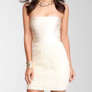 Bebe strapless bandage dress