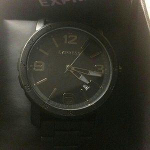 matte black express mens watch