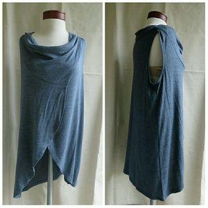 662840c811 Olivia Sky Tops - NWT Long Layering Combo Wrap   Tunic Duster Vest