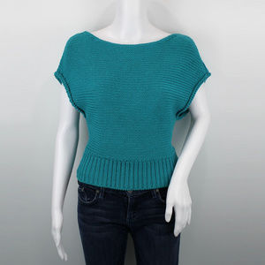 Anthro NWT Moth Cropped Riverwalk Pullover S, M