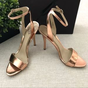 456d7ba906d B Brian Atwood Catania Mirrored Copper Heels 6.5M