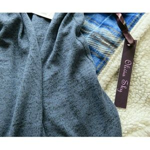 528c570633 Olivia Sky Sweaters - NWT Long Layering Combo Wrap   Tunic Duster Vest