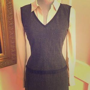 ✨Narciso Rodriguez✨ Wool Herringbone Dress