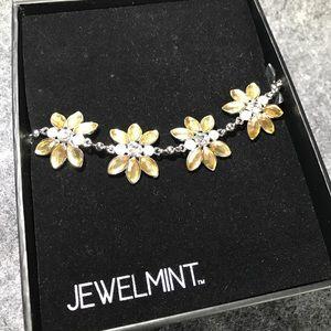 Jewelmint Crystal Corsage Flower Bracelet