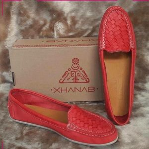 Coming Soon! Red Mexican Leather Loafers Flats