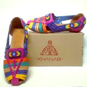 Coming Soon! Mexican Leather Huichol Sandals Beads
