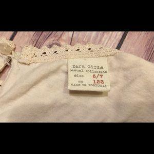 ZARA Girls Ivory Lace Dress Size 6/7