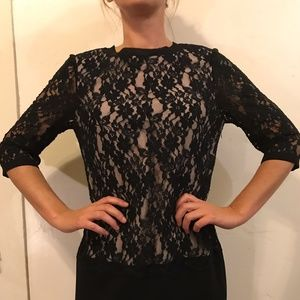 TED BAKER LONDON BLACK LACE DRESS
