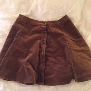 Dresses & Skirts - VINTAGE Faux suede button down skirt