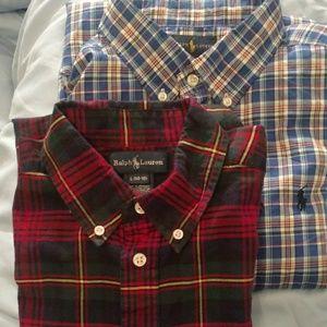 Ralph Lauren plaid shirts tops size 14/16