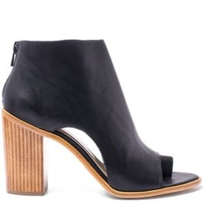Loeffler Randall Gigi Leather Toe Ring Booties sz7