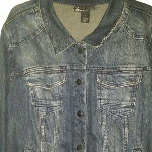 Woman's Plus-Size Blue Jean Jacket by Lane Bryant