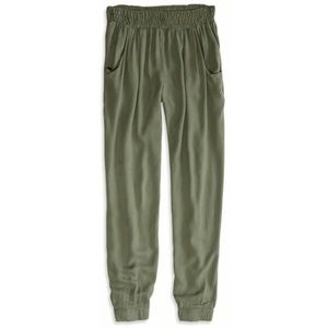 Army green dressy joggers