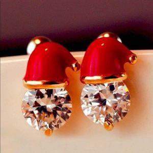 Christmas Santa Hat Stud Earrings