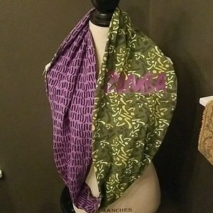 "NWOT ""ZUMBA"" DOUBLE SIDED SCARF"