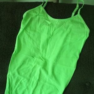 Neon Green Stretch Cami Top