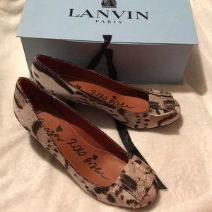 Lanvin leopard shoes