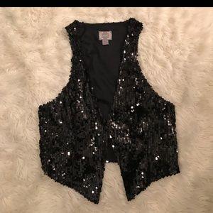 Tops - Black Sequin Vest