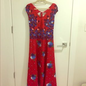 Marc Jacobs Cap Sleeve Floral Gown