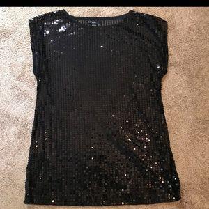 Black Sequin Shirt