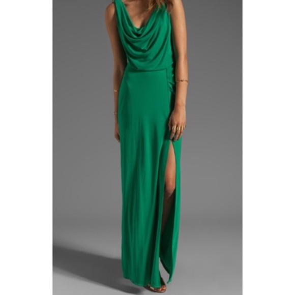 BCBGMaxAzria Dresses | Bcbg Green Gown | Poshmark
