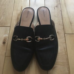 Loafer style mule