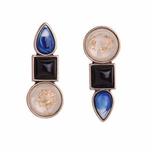 Jewelry - Square Circle Pear Crystal Statement Earrings