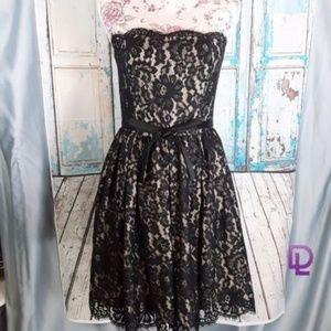 Neiman Marcus  Robert Rodrigue  Black Lace Dress