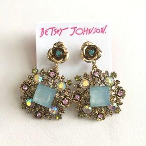 Betsey Johnson Queen Bee Statement Earrings