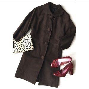 Jackets & Blazers - Eva's Deluxe Vintage Suede Car Coat