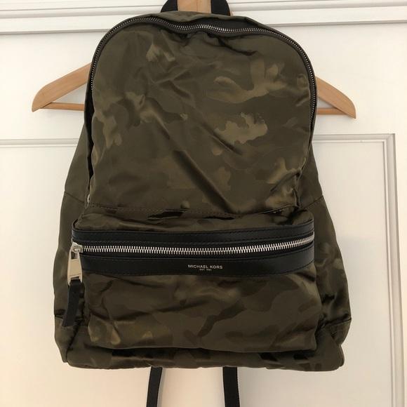 ff3f7c8352a0 Michael Kors Green Camo backpack. M_5a0d9850f09282bf5b030643