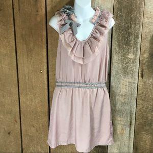 Dresses & Skirts - DeJaVu ruffle vintage vibe dress tunic size Large