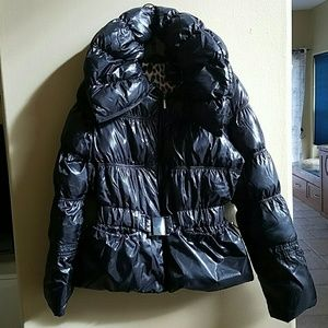 Black Express Puffer coat size medium