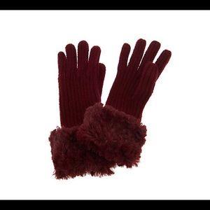 Dennis Basso Rib Knit Gloves