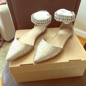 ASOS sequin pointed flats