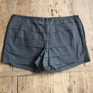J. Crew gray ruffle shorts size 6