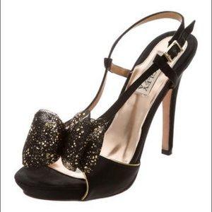 Badgley Mischka Xavier Gold Heel 💜 Sz 8